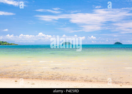 The azure waves of the Andaman Sea. Chang Island. Thailand. - Stock Photo