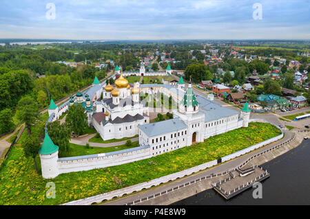 Aerial view of Ipatiev Monastery in Kostroma, Russia - Stock Photo