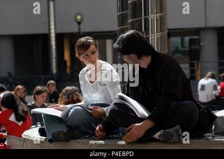 Students of the faculty of Psychology. Public University 'La Sapienza'. Rome Italy. - Stock Photo