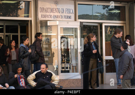 Students of the department of Physics, Public University 'La Sapienza'. Rome. Italy. - Stock Photo