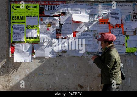Student of Public University 'La Sapienza'. Rome Italy. - Stock Photo