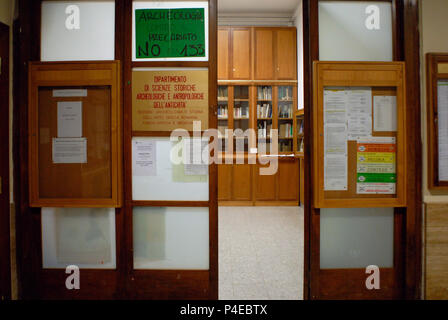 Protest against government policy, Public University 'La Sapienza'. Rome. Italy. - Stock Photo