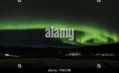 Northern lights at Iceland - Stock Photo