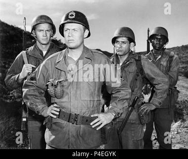 Original Film Title: TAKE THE HIGH GROUND!.  English Title: TAKE THE HIGH GROUND!.  Film Director: RICHARD BROOKS.  Year: 1953.  Stars: RICHARD WIDMARK; STEVE FORREST. Credit: M.G.M. / Album - Stock Photo