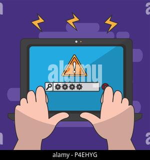 Tablet security system - Stock Photo