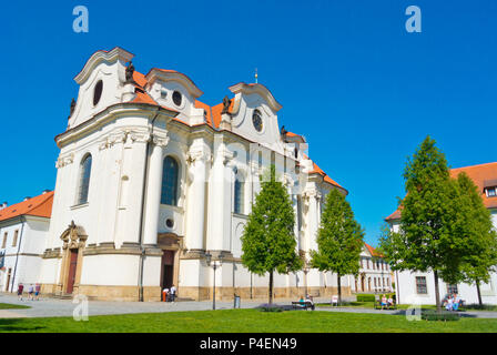 Svata Marketa, Brevnovsky klaster, Brevnov monastery, Brevnov, Prague, Czech Republic - Stock Photo
