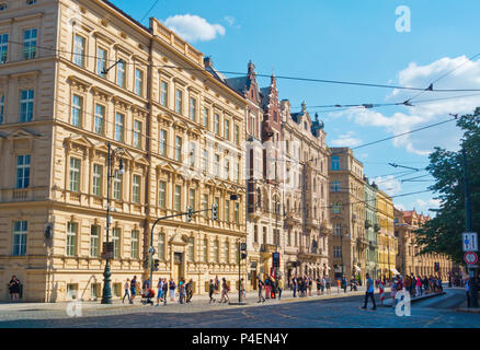 17 listopadu, 17 November street, old town, Prague, Czech Republic - Stock Photo