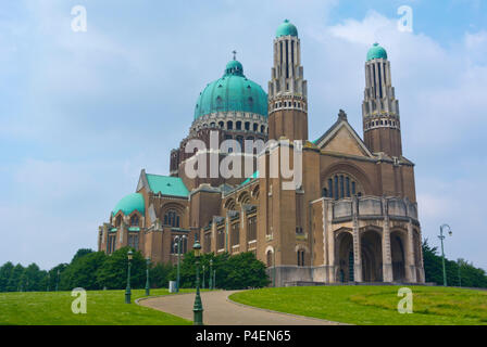 Basilique Nationale du Sacre-Coeur a Koekelberg, National Basilica of Sacred Heart, Brussels, Belgium - Stock Photo