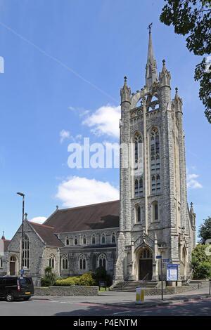 Trinity Church on St Nichoals Way in Sutton town centre, Surrey, UK - Stock Photo