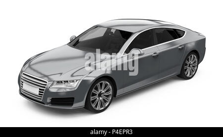 Luxury Sedan Car Isolated - Stock Photo