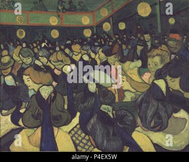 The Dance Hall at Arles - 1888 - 65x81 cm - oil on canvas. Author: Vincent van Gogh (1853-1890). Location: MUSEE D'ORSAY, FRANCE. Also known as: EL SALON DE BAILE DE ARLES. - Stock Photo