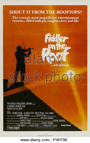 Fiddler On The Roof 1971 United Artists Film Musical Stock