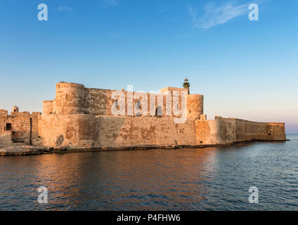Fortress Maniace in Syracuse Sicily - Stock Photo