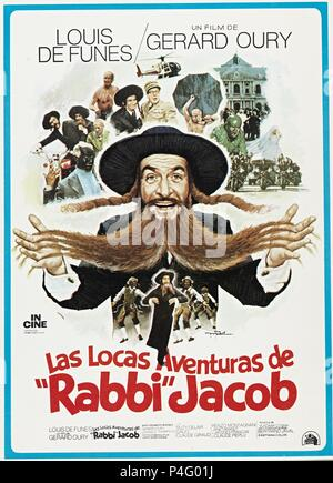Original Film Title: LES AVENTURES DE RABBI JACOB.  English Title: MAD ADVENTURES OF 'RABBI' JACOB, THE.  Film Director: GERARD OURY.  Year: 1973. Credit: 20TH CENTURY FOX / Album - Stock Photo