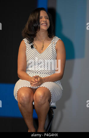 Cannes, France, 22 June 2018, Susan Somersille Johnson, Chief Marketing Officer, SunTrust Bank,  attend the Cannes Lions Festival - International Festival of Creativity © ifnm / Alamy Live News - Stock Photo