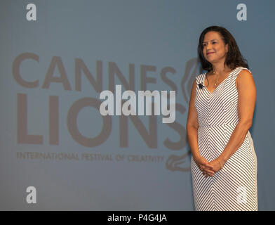 Cannes, France, 22 June 2018, Susan Somersille Johnson, Chief Marketing Officer, SunTrust Bank attend the Cannes Lions Festival - International Festival of Creativity © ifnm / Alamy Live News - Stock Photo