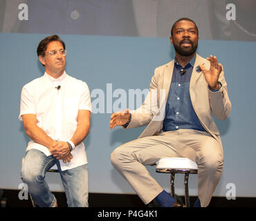 Cannes, France, 22 June 2018, David Oyelowo, Actor, and Scott Goodson, Founder, CEO StrawberryFrog attend the Cannes Lions Festival - International Festival of Creativity © ifnm / Alamy Live News - Stock Photo