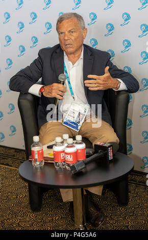 Cannes, France, 22 June 2018, Spieker Sir Martin Sorell in conversation with Ken Auletta at Speakers'Corner, Press Center, Cannes Lions Festival - International Festival of Creativity © ifnm / Alamy Live News - Stock Photo