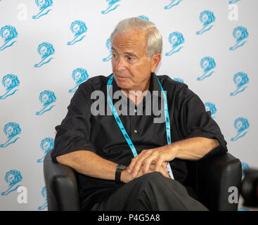 Cannes, France, 22 June 2018, Ken Auletta, Writer, Author - The New Yorker, at Speakers'Corner, Press Center, Cannes Lions Festival - International Festival of Creativity © ifnm / Alamy Live News - Stock Photo
