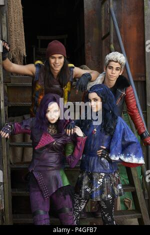 Original Film Title: DESCENDANTS.  English Title: DESCENDANTS.  Film Director: KENNY ORTEGA.  Year: 2015.  Stars: BOO BOO STEWART; CAMERON BOYCE; DOVE CAMERON; SOFIA CARSON. Credit: DISNEY CHANNEL / Album - Stock Photo