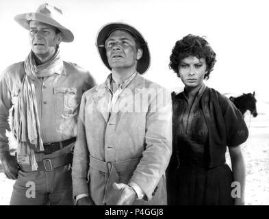 Original Film Title: LEGEND OF THE LOST.  English Title: LEGEND OF THE LOST.  Film Director: HENRY HATHAWAY.  Year: 1957.  Stars: JOHN WAYNE; SOPHIA LOREN; ROSSANO BRAZZI. Credit: UNITED ARTISTS / Album - Stock Photo