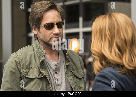 Original Film Title: X-FILES, THE.  English Title: X-FILES, THE.  Film Director: CHRIS CARTER.  Year: 2016.  Stars: DAVID DUCHOVNY. Credit: 20th CENTURY FOX TELEVISION/TEN THIRTEEN PRODUCTIONS / Album - Stock Photo