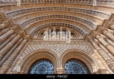 Entrance to The Natural history museum,London - Stock Photo