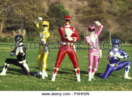 Original Film Title: MIGHTY MORPHIN POWER RANGERS.  English Title: MIGHTY MORPHIN POWER RANGERS.  Film Director: TERENCE H. WINKLESS.  Year: 1993. Credit: TOEI CO. LTD. / Album - Stock Photo