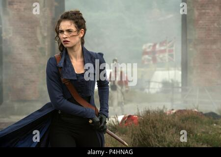 Original Film Title: PRIDE AND PREJUDICE AND ZOMBIES.  English Title: PRIDE AND PREJUDICE AND ZOMBIES.  Film Director: BURR STEERS.  Year: 2016.  Stars: LILY JAMES. Credit: CROSS CREEK PICTURES / Album - Stock Photo