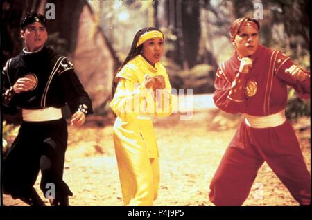 Original Film Title: MIGHTY MORPHIN POWER RANGERS: THE MOVIE.  English Title: MIGHTY MORPHIN POWER RANGERS: THE MOVIE.  Film Director: BRYAN SPICER; STEVE WANG.  Year: 1995.  Stars: KARAN ASHLEY; STEVE CARDENAS; JOHNNY YONG. Credit: 20TH CENTURY FOX / Album - Stock Photo