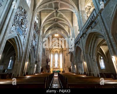 St. Mary cathedral interior, Sibiu, Romania - Stock Photo