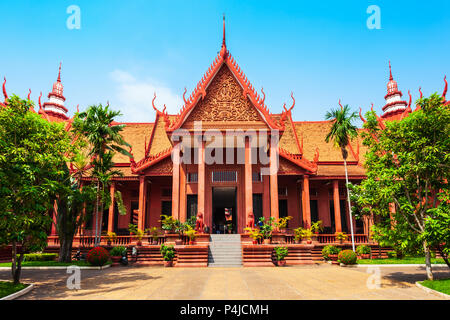 The National Museum of Cambodia is located in Phnom Penh in Cambodia - Stock Photo
