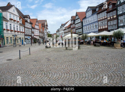 The Market Square in the Allstadt, Celle, Lower Saxony, Germany. - Stock Photo