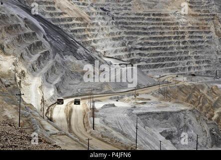Kennecott, copper, gold and silver mine operation outside Salt Lake City, Utah, United States - Stock Photo