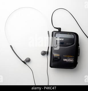 Sony Cassette AM-FM radio Walkman - Stock Photo