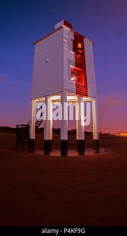 Burnham on sea lighthouse - Stock Photo