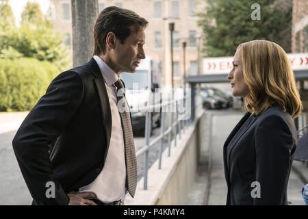 Original Film Title: X-FILES, THE.  English Title: X-FILES, THE.  Film Director: CHRIS CARTER.  Year: 2016.  Stars: DAVID DUCHOVNY; GILLIAN ANDERSON. Credit: 20th CENTURY FOX TELEVISION/TEN THIRTEEN PRODUCTIONS / Album - Stock Photo