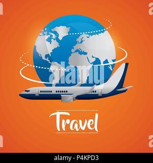 travel around the world - Stock Photo