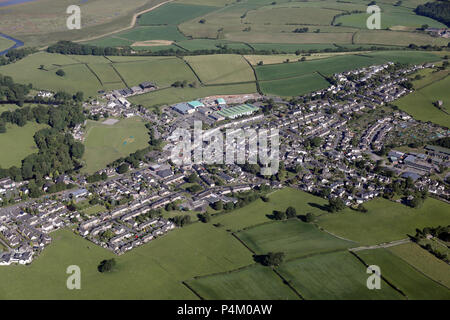 aerial view of Carnforth in Lancashire, UK - Stock Photo