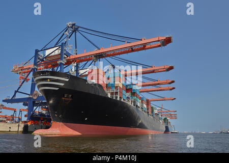 Rotterdam Port Container Ship - Stock Photo