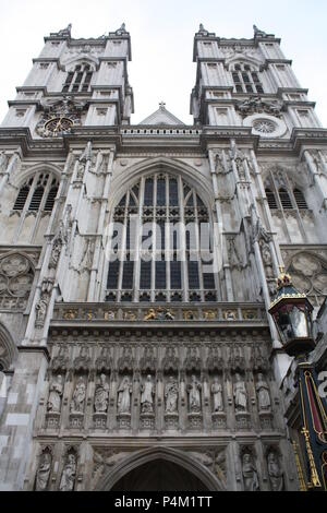 perspective shot of Westminster Abbey - Stock Photo