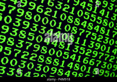 Macro of password selection on the monitor of the office computer. The concept of hacking the protection of a personal data keeper. The stream of supp