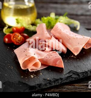 Venetian ham with salad - Stock Photo