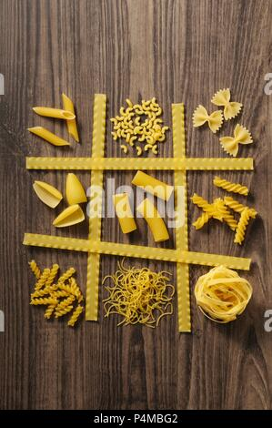 Various types of pasta - Stock Photo