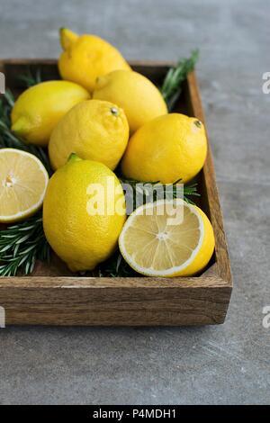 Lemon Rosemary Nature Morte - Stock Photo