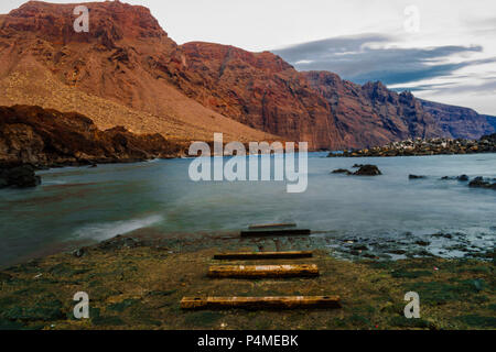 fishing ramp in Punta Teno, Tenerife, Spain - Stock Photo
