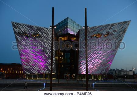 Titanic visitor centre in Belfast, Northern Ireland - Stock Photo