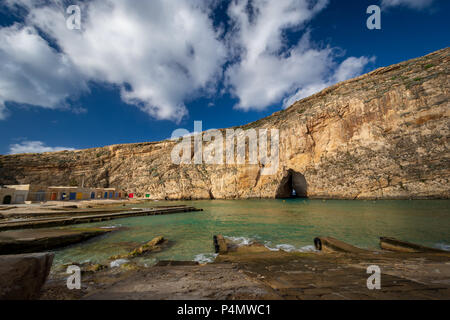 Inland Sea, Maltese famous landmark. Island of Gozo, Malta. - Stock Photo