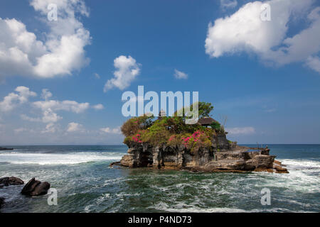 Tanah Lot Temple in Bali Indonesia - nature and architecture background - Stock Photo