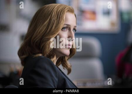 Original Film Title: X-FILES, THE.  English Title: X-FILES, THE.  Film Director: CHRIS CARTER.  Year: 2016.  Stars: GILLIAN ANDERSON. Credit: 20th CENTURY FOX TELEVISION/TEN THIRTEEN PRODUCTIONS / Album - Stock Photo